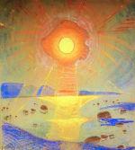 Sun, Maestoso by Oskar Kallis  (pastel, 1917).
