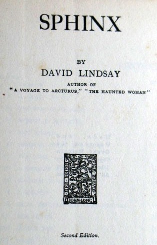 Title page of Sphinx, from eBay