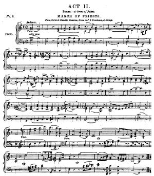 March of the Priests sheet music